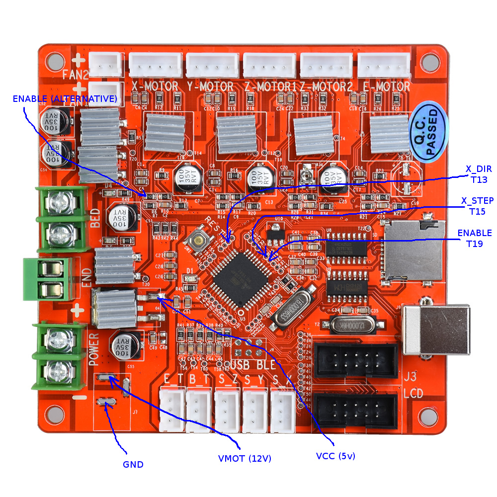 how to fix failed stepper driver on the anet v1 0 board and use rh lokspace eu Electrical Panel Board Plug Board